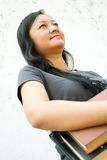 Cheerful female college student Royalty Free Stock Image