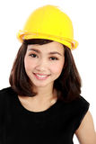 Cheerful female construction engineer Stock Photography