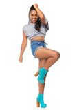 Cheerful female dancer Royalty Free Stock Photo