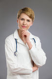 Cheerful female doctor. Royalty Free Stock Photos