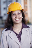 Cheerful female engineer Royalty Free Stock Photography