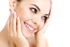 Cheerful female with fresh clear skin Royalty Free Stock Photos