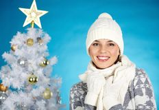 Cheerful female Stock Images