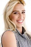 cheerful female model side view young Στοκ εικόνα με δικαίωμα ελεύθερης χρήσης