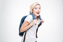 Cheerful female student Royalty Free Stock Image