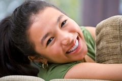 Cheerful female teenager Stock Photo