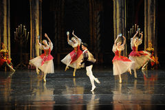 A cheerful Festival Dance-ballet Swan Lake Stock Images