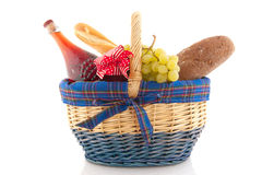 Cheerful filled basket Royalty Free Stock Photos