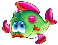 Cheerful Fish. Royalty Free Stock Image