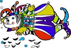 Cheerful Fish -  joker, coloring book, funny cartoon fish. Hand drawn sketch of animals.Coloring pages, paint coloring pages, colouring book, can be painting Stock Images