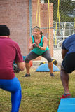 Cheerful Fitness Instructor Stock Photo