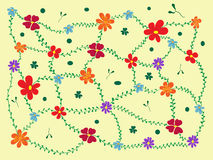 Cheerful floral background Royalty Free Stock Photos