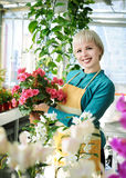 Cheerful florist Royalty Free Stock Photography