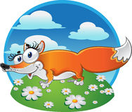 Cheerful Fox on the background Royalty Free Stock Image