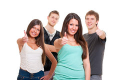 Cheerful friends Stock Image