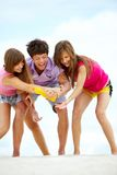 Cheerful friends Stock Photography