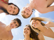 Cheerful friends Royalty Free Stock Photo
