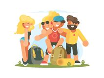 Cheerful friends guys and girls Stock Photography