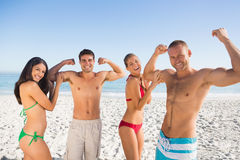 Cheerful friends having fun together Stock Images