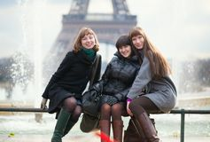 Friends in Paris together Stock Images