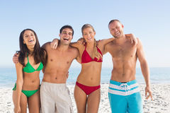 Cheerful friends posing together Royalty Free Stock Photography