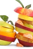 Cheerful fruit,mixed fruits. Isolated Stock Photography