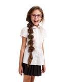 Cheerful funny beautiful schoolgirl Stock Photography