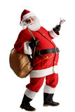 Cheerful funny traditional santa claus Royalty Free Stock Image