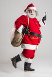 Cheerful funny traditional santa claus Royalty Free Stock Photography
