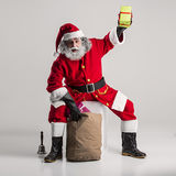 Cheerful funny traditional santa claus Royalty Free Stock Images