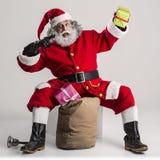Cheerful funny traditional santa claus Royalty Free Stock Photos
