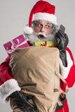 Cheerful funny traditional santa claus Stock Photo