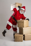 Cheerful funny traditional santa claus Stock Image