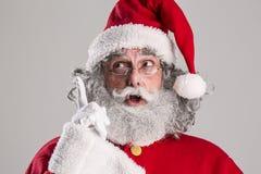 Cheerful funny traditional santa claus Royalty Free Stock Photo