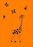 Сheerful giraffe Stock Photos