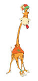 Cheerful giraffe cartoon Royalty Free Stock Photos