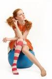 The cheerful girl Stock Photo