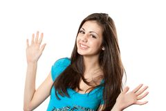 Cheerful girl Stock Images