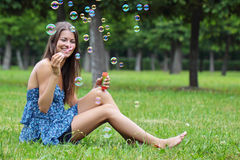 The cheerful girl Stock Photo