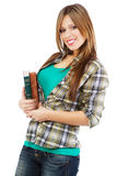 Cheerful girl in casual clothing Royalty Free Stock Photo
