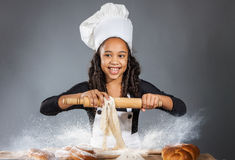 Cheerful girl chef Royalty Free Stock Image