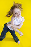 Cheerful girl dances. Royalty Free Stock Images