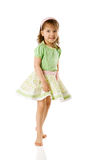Cheerful girl dancing Royalty Free Stock Photos