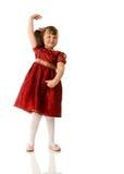 Cheerful girl dancing Stock Image