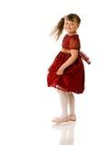 Cheerful girl dancing Stock Photos