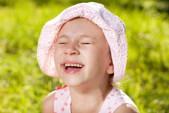Cheerful girl laughing Stock Photography