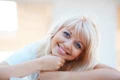 Cheerful girl resting Stock Photography