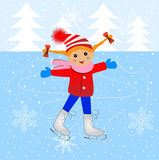 Cheerful girl skating Royalty Free Stock Photos
