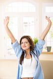 Cheerful girl stretching Stock Photography