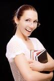 Cheerful girl-student Stock Photography